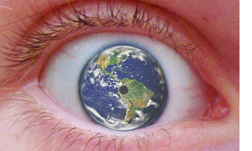 Eye with Earth Eyeball
