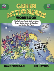 Green Actioneers Activity Book for Families, front cover