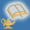 A Write To Know book and lamp favicon
