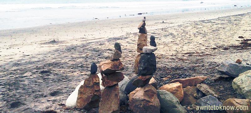 Rock Sculptures at Beach