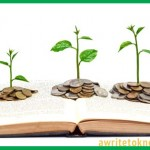 Book sprouting money plants