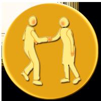 RELATIONSHIP MARKETING FLIP BOX BUTTON