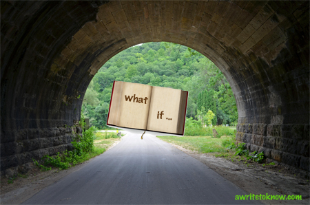 "Book at End of Tunnel with the words ""What If"""