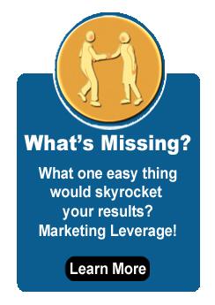 Marketing Leverage Blue Box