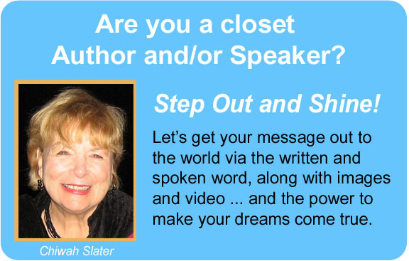 Welcome, Author/Speaker! Time to Shine!
